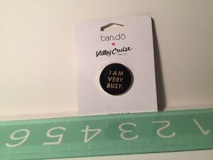 "New Fun 1"" Novelty Pin I Am Very Busy Ban.do NIP Bando Lapelle"