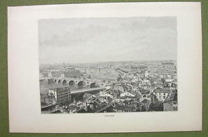 FRANC-Toulouse-View-of-City-Town-1880s-Antique-Print