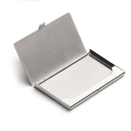 Stainless Steel Silver ID Credit Card Deluxe Holder Business Pocket Wallet Case