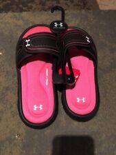 2 Under Armour Sandals Childrens Youth Ignite Diverge VIII Slides Girls Size 2Y