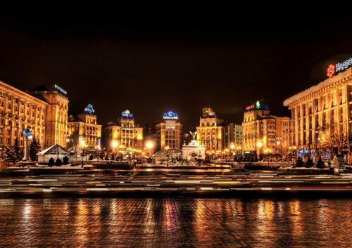 "KIEV UKRAINE NEW A4 CANVAS GICLEE ART PRINT POSTER 11.7/""x8.3/"""