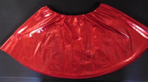 NWOT Defect  Red Metallic Spandex Dance Costuming Skirt Sm Adlt or Lrg Ch