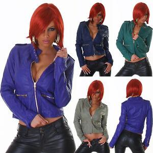 Sexy-Jacket-en-Cuir-pour-Femme-Simili-Cuir-Veste-Biker-Transfert-Imitation