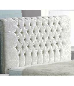 54inch Floor STANDING super design PLAIN BUTTONS Headboard CHENNILE all COLOURS Home, Furniture & DIY Furniture