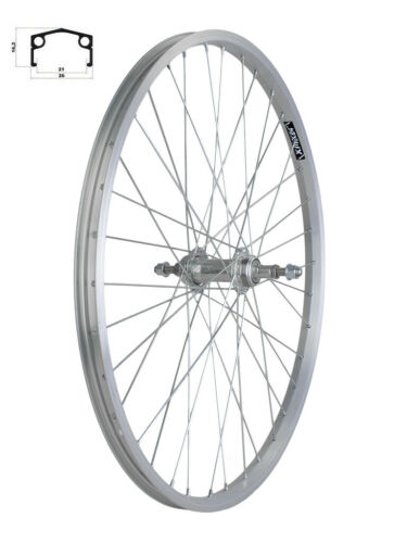"24/"" MTB Rear Wheel Aluminium Silver 36H 135 mm"