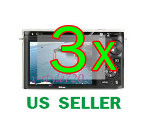 3x Clear LCD Screen Protector Guard Cover Film For Nikon 1 J3 Digital Camera