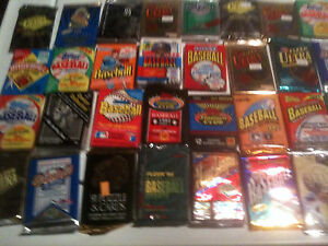 50-VINTAGE-UNSEARCHED-BASEBALL-CARD-LOT-in-UNOPENED-FACTORY-SEALED-PACKS