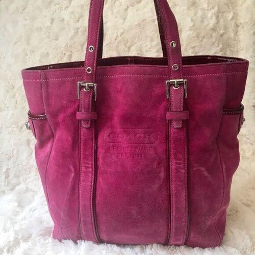 Coach vintage 1993 suede tote bag, pink
