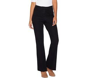 Isaac-Mizrahi-Women-039-s-Tall-24-7-Denim-Boot-Cut-Flyfront-Jeans-Black-Size-16T-QVC