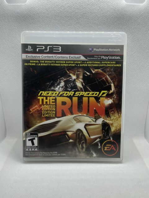 Need for Speed: The Run Limited Edition (Sony PlayStation 3, 2011) *CIB*
