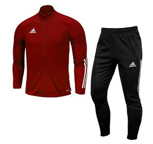 Details about Adidas Men Condivo 20 Training Suit Set Red Soccer Jacket Pant FS7111 EA2475