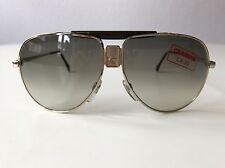 vintage CARRERA 5570 silver/brown rare sunglasses Austria 80s LARGE deadstock