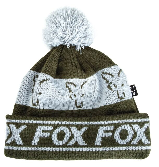 Fox Green Silver Lined Bobble Carp Fishing Hat CPR990
