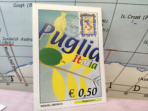 Cartolina Puglia Italia Manuel Amoricotimbro 2008 Poste Filatelia L5 Les Clients D'Abord