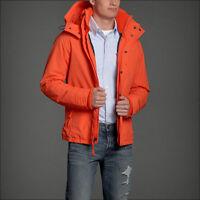 Abercrombie&fitch A&f Men's All-season Weather Warrior Jacket Orange $160 L