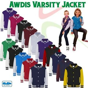 AWD-Kids-Boys-Girls-Varsity-Baseball-Jacket-College-School-Children-American-TOP