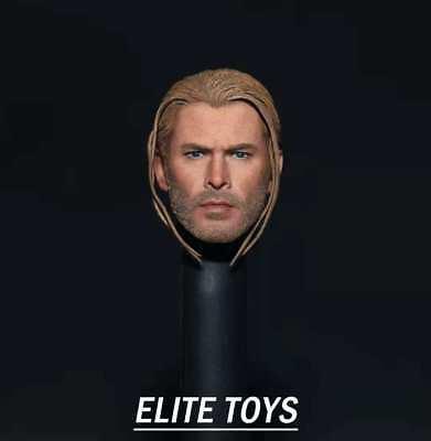 "ELITE TOYS 1//6 Thor Head Sculpt Head Carving Avenger Figure for 12/"" Male Body"