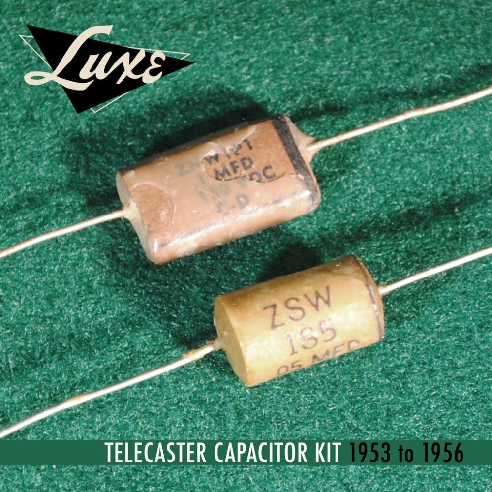 Luxe 1953-1956 Telecaster  Wax Impregnated Paper & Foil .1mF & .05mF Capacitors