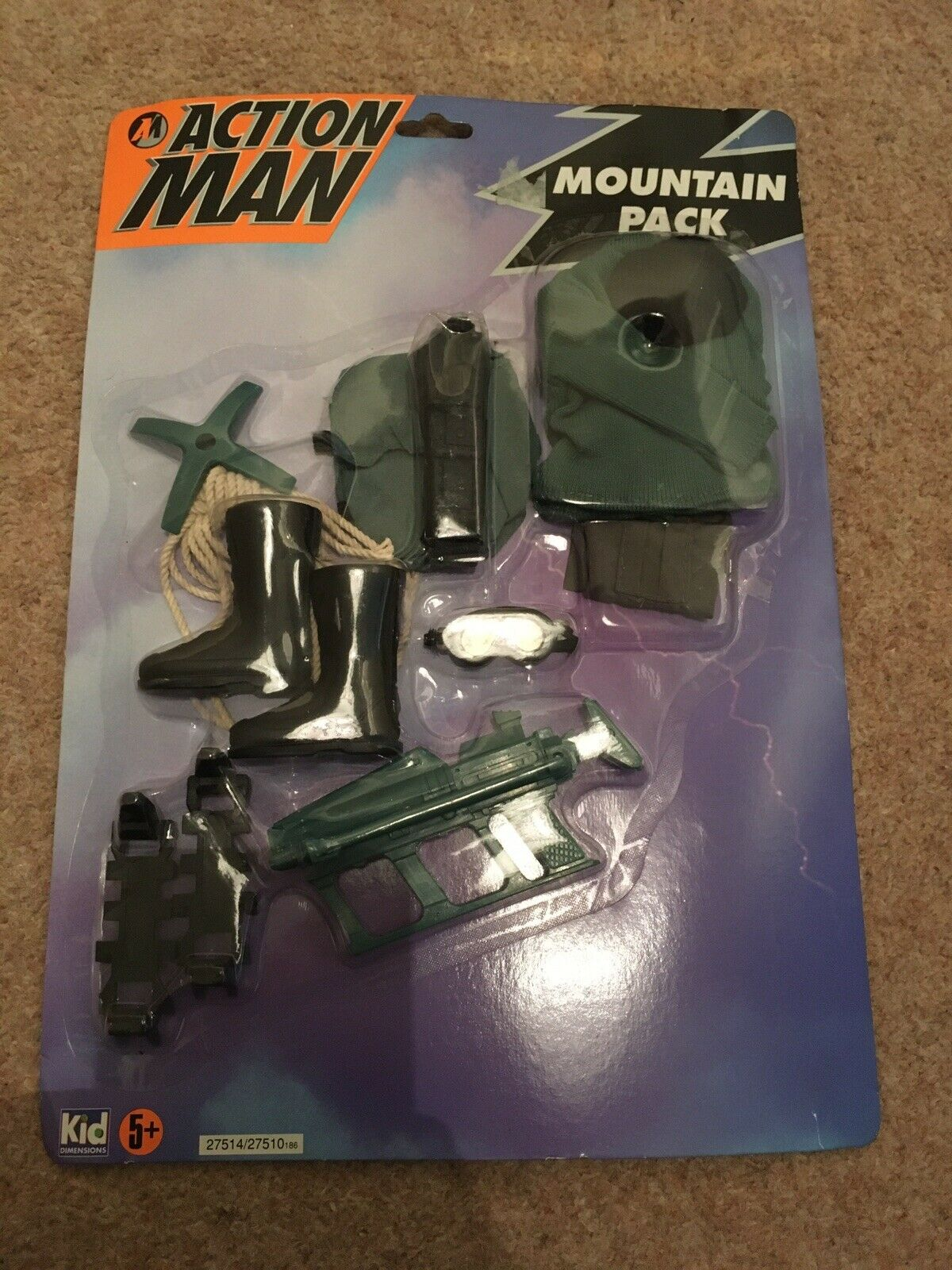 Action Man Mountain Pack Accessory Pack Gear Outfit Costume Hasbro 1993