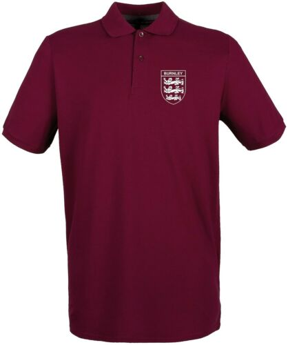 BURNLEY 3 LIONS CLUB AND COUNTRY SMALL CREST POLO MENS