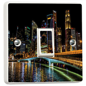 Details about Singapore Skyline 3D Light Switch Sticker Cover Vinyl Skin  Wall Decal Decor