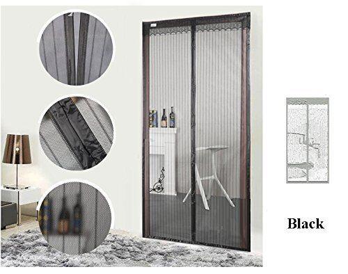 Fit Walk by Curtain Magnetic Screen Door Mosquito Netting Screen with Velcro