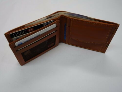 Soft Leather Wallet With Coin Pocket and interior Leather Lined Tan