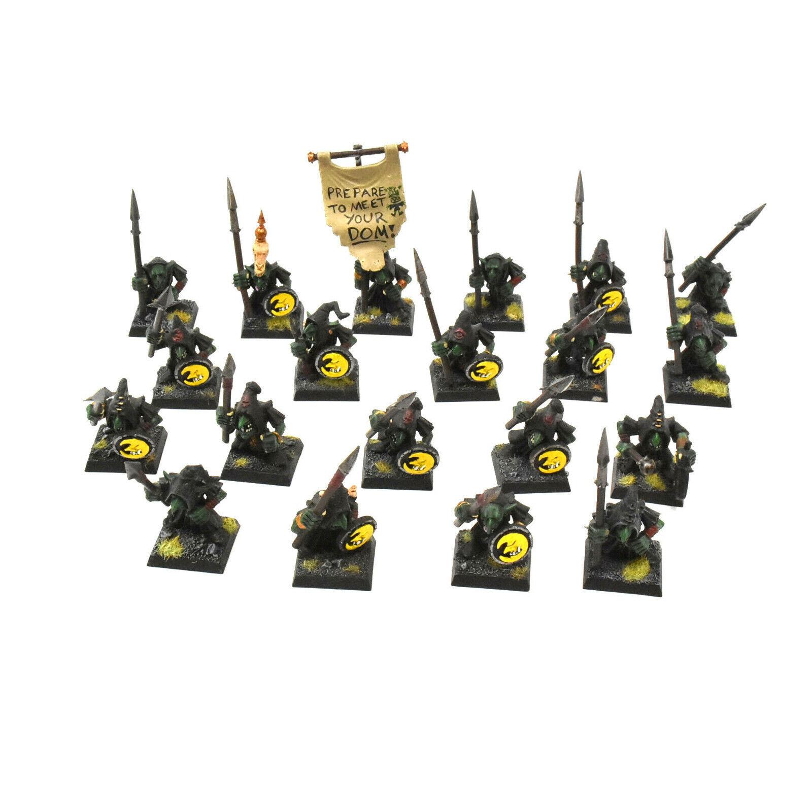 Orcos & goblins 20 noche Grojos con lanza fantasy bien pintado gloomspite Gitz
