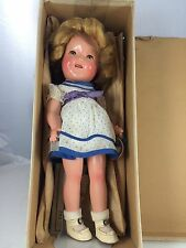 """1930s 11"""" Ideal Composition Shirley Temple In Original Box"""