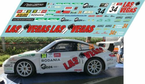 PORSCHE 997 GT3 Delplace RALLY YPRES 2018  DECALS 1//43