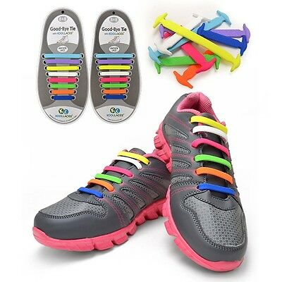 [Koollaces] New Patented Elastic No Tie Silicone Fashion Shoe Laces 16pcs *2