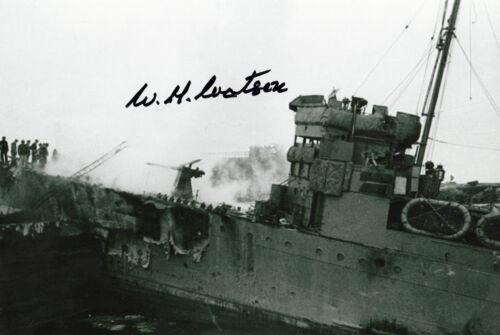 WW2 St Nazaire raid Signed 12x8 Commando BILL /'TIGER/' WATSON MC