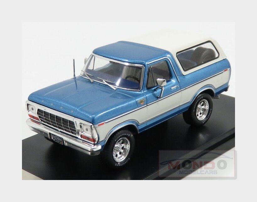 Ford Usa Bronco 1978 Light bleu Met blanc PREMIUM-X 1 43 PRD045