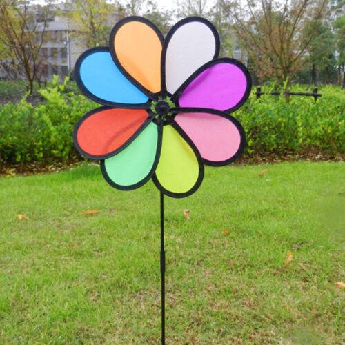 2x Regenbogen Wind Rasen Windräder Windmühle Party Windrad Wind Für Patio