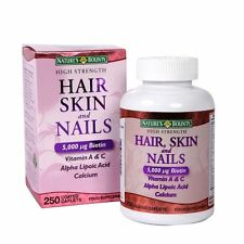 Nature's Bounty Hair Skin and Nails 5000 mcg of Biotin - 250 Coated Tablets