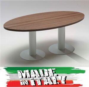 Tavolo Riunione Ovale 6 posti varie finiture Arredo Mobili Ufficio ...