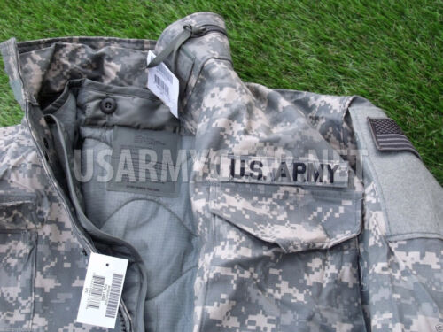 New Acu Military M65 Field Cold Weather Combo Coat Jacket Liner XL Gloves