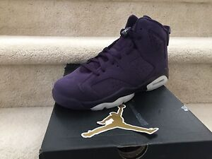 reputable site 7108a 8c180 Image is loading Air-Jordan-Retro-6-Purple-Dynasty-olympic-USA-