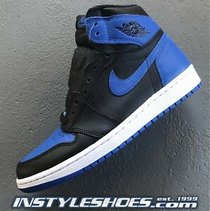 Image is loading Nike-Air-Jordan-1-High-OG-Black-Royal-