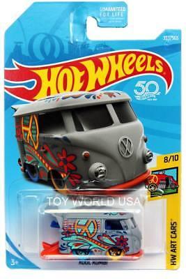 2018 Hot Wheels #353 Kool Kombi HW 50 Years Series Hippie Van HW Art Cars