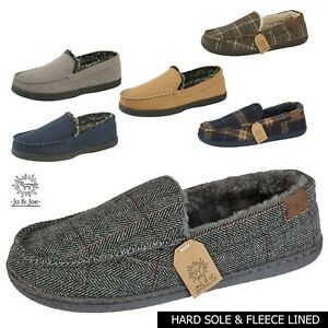 Mens Slippers Mens Moccasin Slippers Mens Moccasins Full BacK Fur Lined Slippers