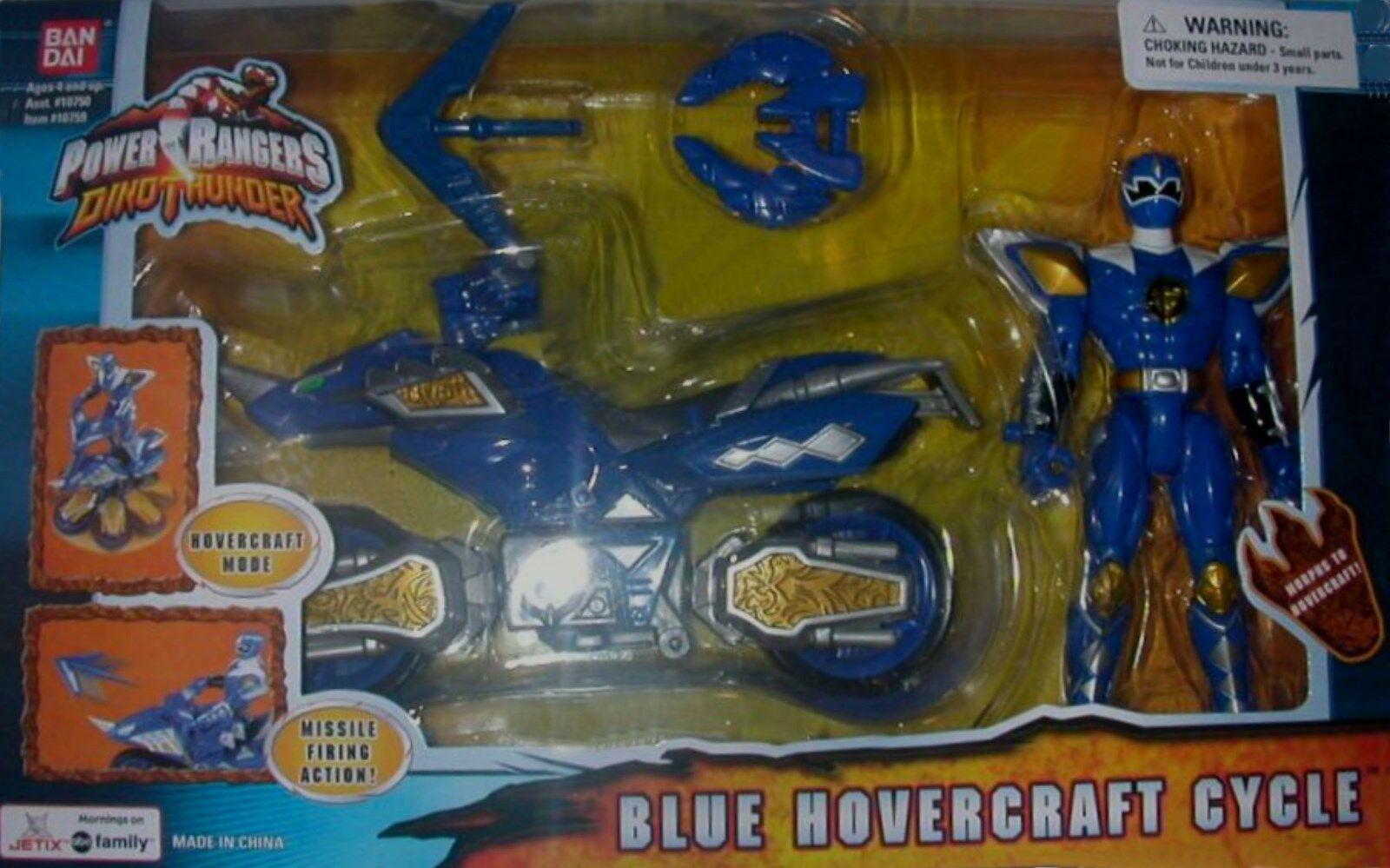 Power rangers dino donner blaue hovercraft - zyklus ranger neue fabrik versiegelt, 2004