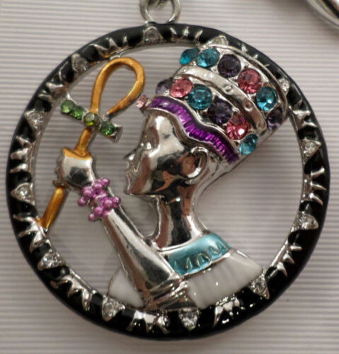 Rhinestone Bling Egyptian Pharo Egypt Ruler Key Chain Purse Fob