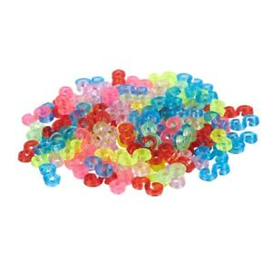 1X-New-Amazing-Loom-Bands-Pack-of-125-Colorful-S-Clips-N6S7