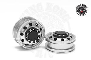 Metal-1-75-034-Non-Powered-Hub-Front-Wheel-A-2pcs-for-Tamiya-1-14-RC-Tractor-Truck