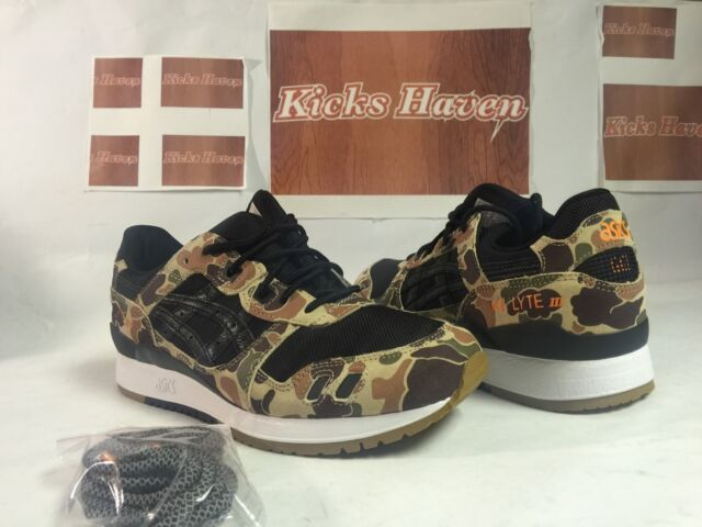7bcecefcfe42 ... spain asics tiger atmos gel lyte iii duck camo tq6h2q 8890 exclusive  size bc71d e3d86