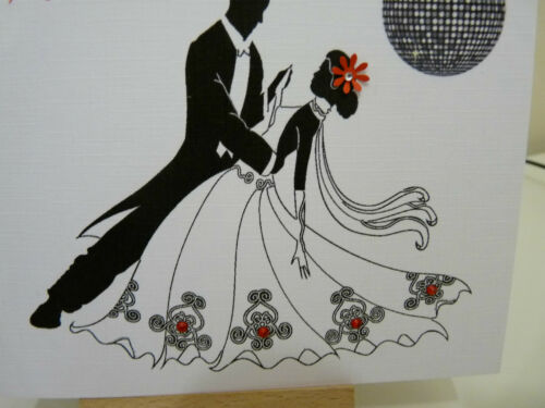 Handmade Personnalisé femelle strictement come dancing Ballroom Carte D/'Anniversaire