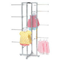 Folding Lingerie Tower Chrome Plated Steel Finish