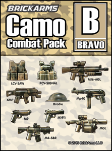 BrickArms CAMO Combat PACK A Weapon Pack for Minifigures NEW Combat Military