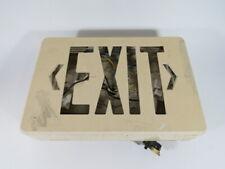Generic Cksr Led Dc Exit Fixture 24vdc Missing Red Letters Used